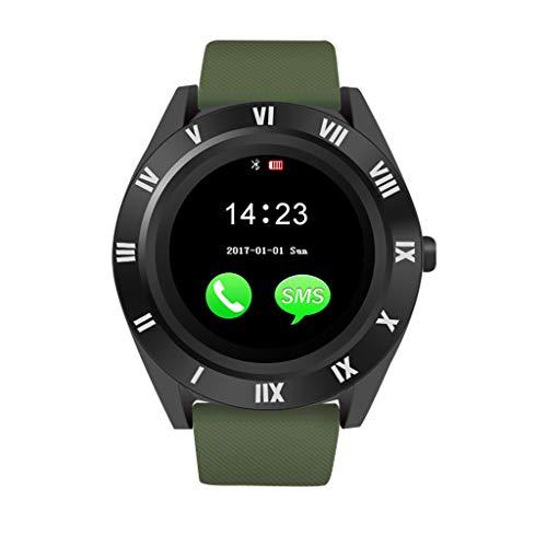 Neue M11 BT3.0 Bluetooth Smartwatch Touchscreen Armbanduhr Mit Kamera SIM und TFcard Kamera wasserdichte Schlafüberwachung Fitness Tracker für Android iOS APP Call Phone Handys (Navy)