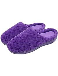 SMajong Pantofole Inverno da Uomo Donna Pantofole di casa Caldo  Confortevole Ciabatte Memory Foam Scarpe da 3d9aafffbbd