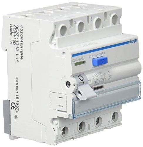 Preisvergleich Produktbild Hager CDA440D FI-Schalter 40A 30mA A-Typ 4-polig