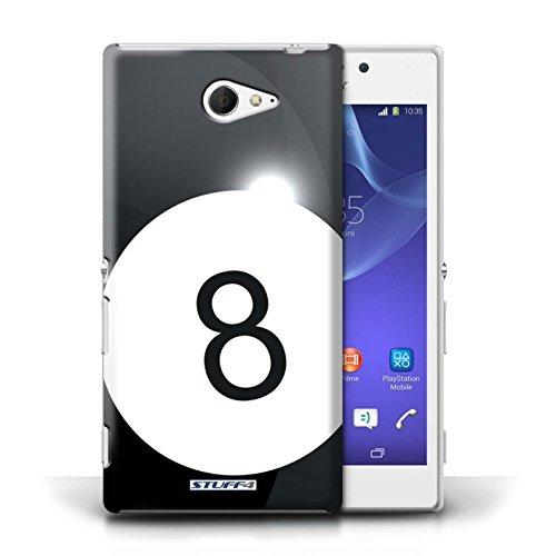 Kobalt® Imprimé Etui / Coque pour Sony Xperia M2 / Billard/Pool conception / Série Balle Sportif Billard/Pool