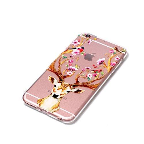iPhone 6s Plus Custodia, Cartoon unicorno unicorn - TPU Silicone Trasparente Nuovo Gel Soft Case iPhone 6 Plus / 6S Plus Custodia 5.5 durevole Cartoon Cover, Prova di scossa anti-graffio # # 10