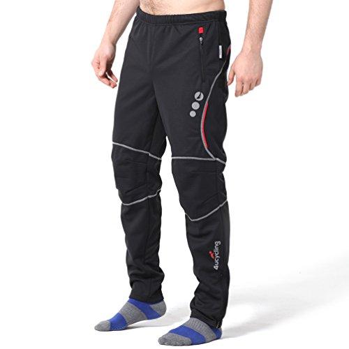 4Ucycling Winddichte Sporthose für Outdoor und Multisport, Damen Herren Mädchen Jungen, schwarz/rot, Weight:198-210Lbs Height:6'1