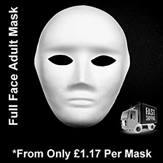 4x FULL FACE MASK, PAINT MASK DECORATE PLAIN MASKS