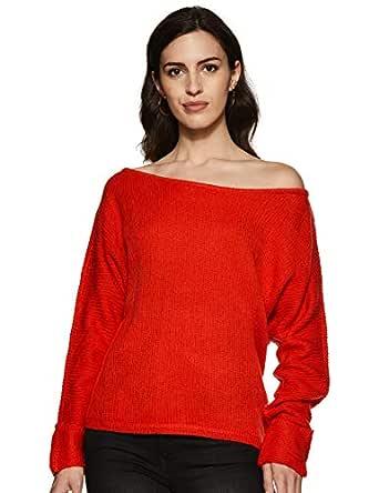VERO MODA Women's Plain Regular Fit Top (196801701_Flame Scarlet_XS)