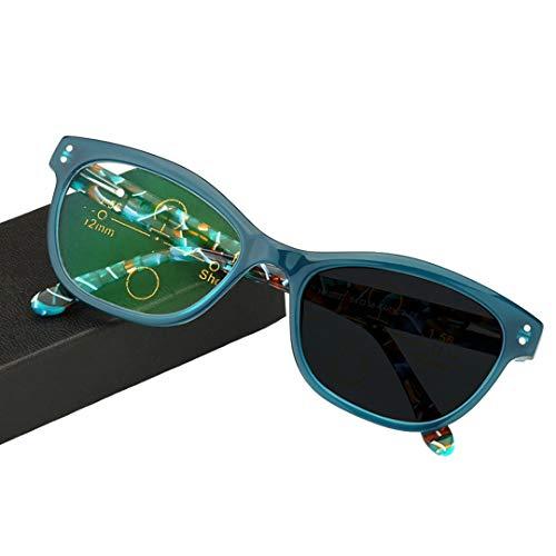ZYFA Verfärbung Sonne Lesebrille, Bifokal Sonnenbrille Sehhilfe, Progressive Multi-Power-Mehrfachfokussierung