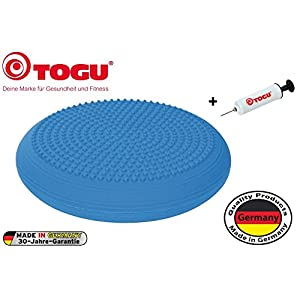 Togu happyback® Ballkissen® inkl. Ballpumpe, Made in Germany – geruchsneutral – bis 200 kg belastbar