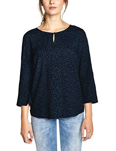 CECIL Damen 341578 Bluse, Mehrfarbig (deep Blue 20128), Large (Herstellergröße:L)
