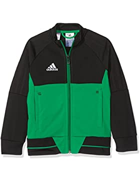 adidas BQ2613 Chaqueta, Niños, Negro/Verde/Blanco, 164 (13/14 años)