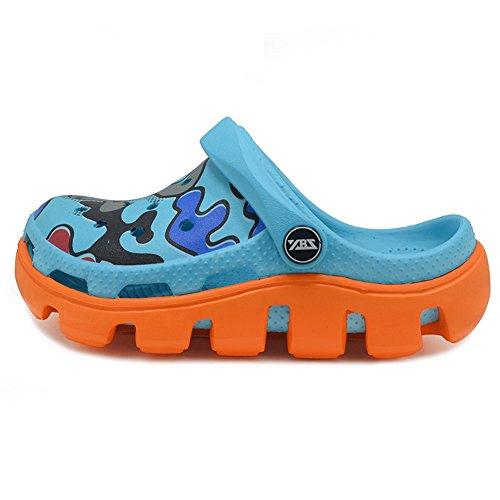 Polliwoo Sandal Flops Chaussures pour Garçons et filles Pantoufles Plage Mode Été Des Plat Sandales Chaussons Orangé