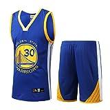 HANGESS Maillots et Shorts de Basket-Ball pour Hommes Stephen Curry Chandail de Basket-Ball Swingman été No.30 des Guerriers été sans Manches