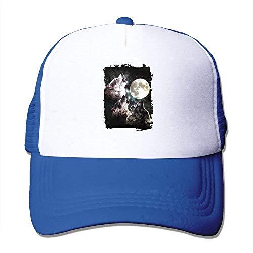 Mond-baseball-jersey (UUOnly DREI Wolf-Mond-justierbarer Druck-Fernlastfahrer-Hut Erwachsener Baseball Baseballmütze)