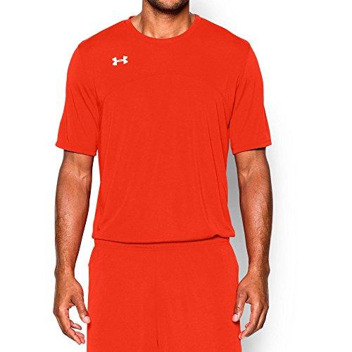 Under Armour UA Golazo Soccer jersey Dark Orange/White