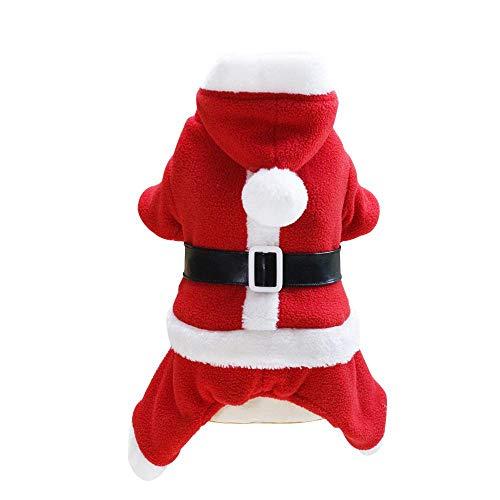 Auoker Hundekostüm, super warm, Kapuzenpullover mit 3 Knöpfen, verblasst Nicht, Nicht verformt, leicht zu tragen, Waschbare Hundebekleidung für Weihnachten, Party