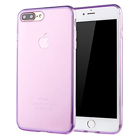 Coque de protection pour iPhone 7 PLUS PURPLE, The Flame Store en silicone (TPU) Lisse Protection Slide Anti Case Complete Ultra-Thin Slim
