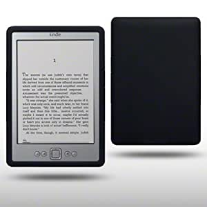 AMAZON KINDLE 4 SILICONE SKIN BY CELLAPOD CASES BLACK
