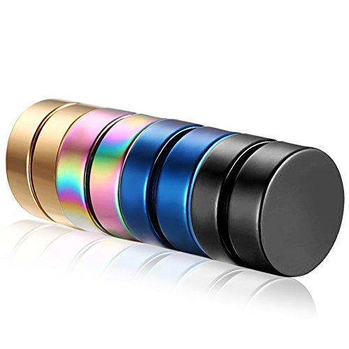 Cupimatch 4Paar Magnetische Edelstahl-Ohrstecker, unechtes Piercing, rund, zum Aufstecken