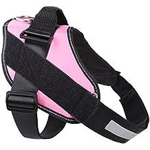 YiJee Cómodo Ajustable Arnés para Perros Suave Cómoda Acolchada Arnés de Mascotas Pink M