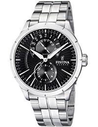Festina Herren-Armbanduhr XL Klassik Multifunktion Analog Quarz Edelstahl F16632/4