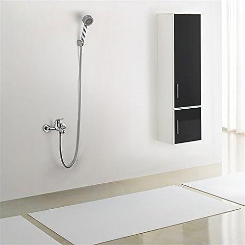 CAC Kit de ducha de baño de cromo pulido C672