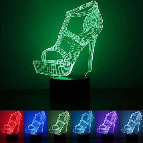 Acryl High Heels 3d Licht führte kleines Nachtlicht