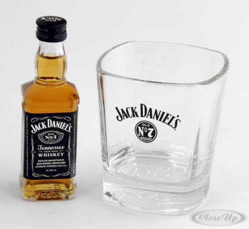 "Jack Daniel's Whiskeyglas Set ""Old No. 7"" Plus - Whiskeyglas mit Miniatur Jack Daniel's (1 x 0.05 l)"