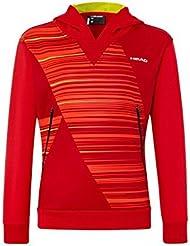 Head - zing Junior de tenis (rojo) sudadera con capucha, color Rojo - rojo, tamaño S