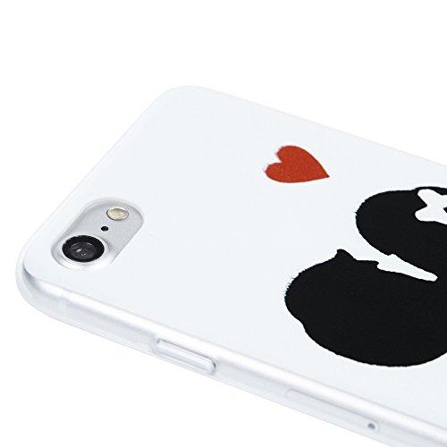 iPhone 7 (4,7 Pollici) Custodia Trasparente, YOKIRIN Case Cover Ultra Slim in PC Protettiva Copertura - Palloncino Coppia