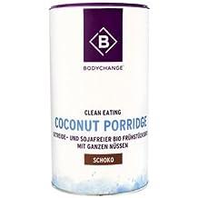 BodyChange Bio Coconut Porridge - Getreide- und sojafreier Bio Frühstücksbrei - Schoko (350g)