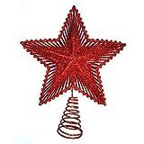 PUNTALE PER ALBERO DI NATALEBellissimo puntale per la decorazione finale del nostro albero natalizioper aumentare ancora di più l'atmosfera delle festività.Un oggetto unico per la decorazione del nostro albero di Nataleuna stella di colore ro...