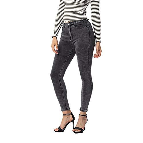 UFACE Striped Print Strap Hose mit weitem Bein Hose Damen Striped High Waist Harem Pants (XL/(44), Schwarz)