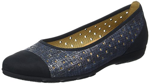 Gabor Fashion, Ballerines Femme Bleu (jeans/nightblue 36)