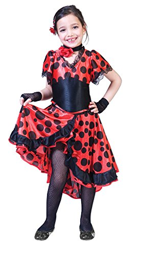 Evita Kostüm - Spanierin Evita Kostüm Mädchen Gr. 116