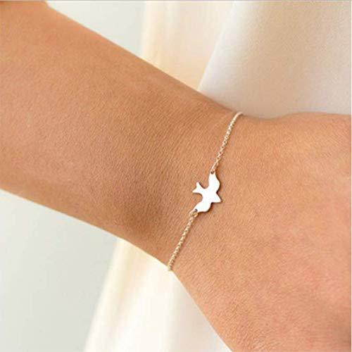 ksufnjekls Winzige Friedenstaube Armband Steigen Fliegende Vögel Armband Kleine Süße Schwalbe Baby Vogel Armbänder Abstrakte Armbänder -