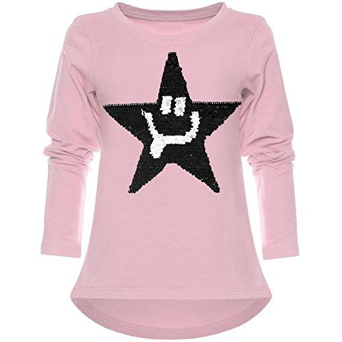 BEZLIT Mädchen Wende-Pailletten Shirt Süßem Motiv 21897 Rosa Größe 128