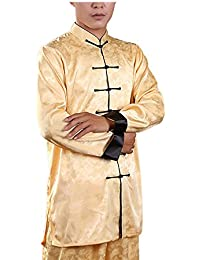 KIKIGOAL Transpirable Seda Unisex Chino Tradicional Tai Chi Uniformes Kung Fu Ropa Tang Suit Artes Marciales