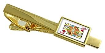 Select Gifts Cuore carta da gioco Queen Gold-tone Clip inciso nella casella di messaggio