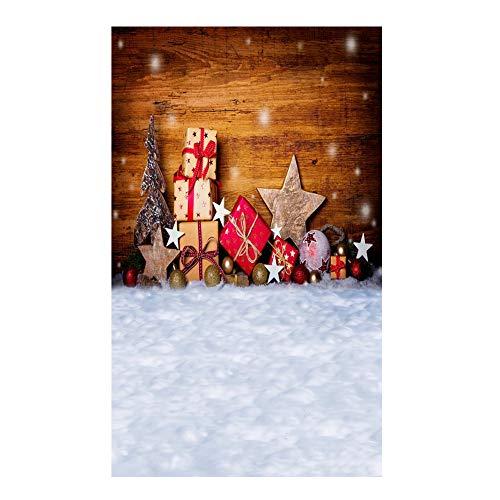 (Le yi Wang You San Bodhi® Hintergrund Weihnachtsbaum Realistische Kinder-Fotografie Foto Requisite (150 x 220 cm), Vinyl, 5)