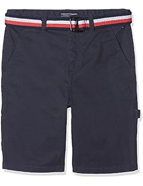 Tommy Hilfiger Belted Workwear Short Powsc PD, Pantalones Cortos para Niños