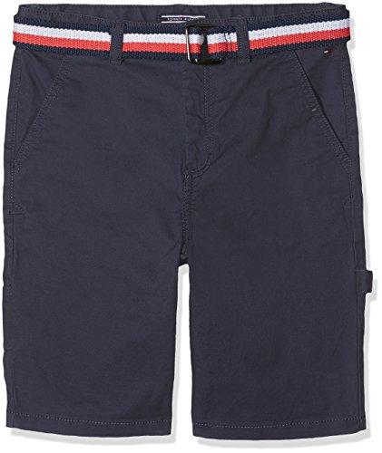 Tommy Hilfiger Jungen Belted Workwear POWSC PD Shorts, Schwarz (Black Iris 002), 152 (Herstellergröße: 12) (Tommy Jungen-shorts Hilfiger)