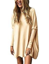 Minetom Mujeres Jersey Mini Vestido Dress Suéter De Punto Cuello O Moda  Pullover Sweater Jumper Camisa ce65b30653e3