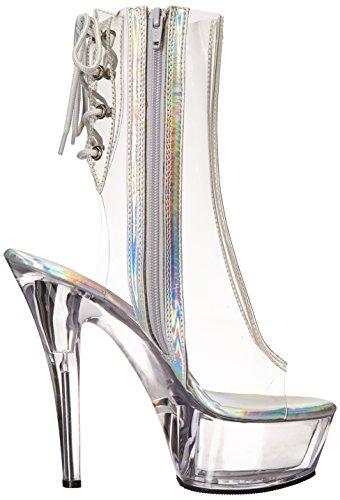 Pleaser Damen Kiss-1018c Stiefel Transparent (clr / Clr)
