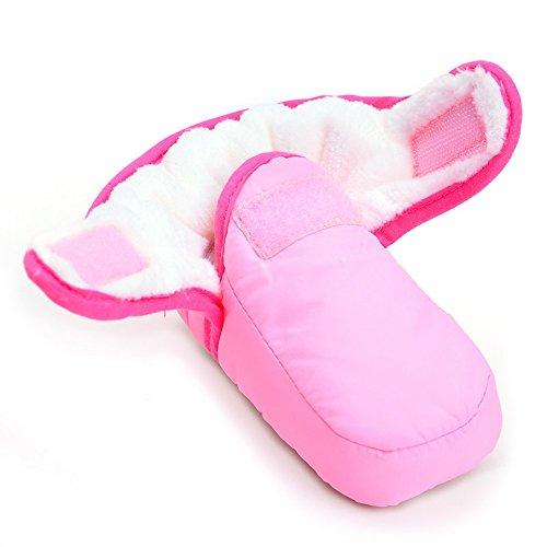 Mädchen Für Rosa Cowboy-stiefel (ESTAMICO Baby Winterstiefel m?dchen Krabbelschuhe Winter Rosa 3-6 Monate)