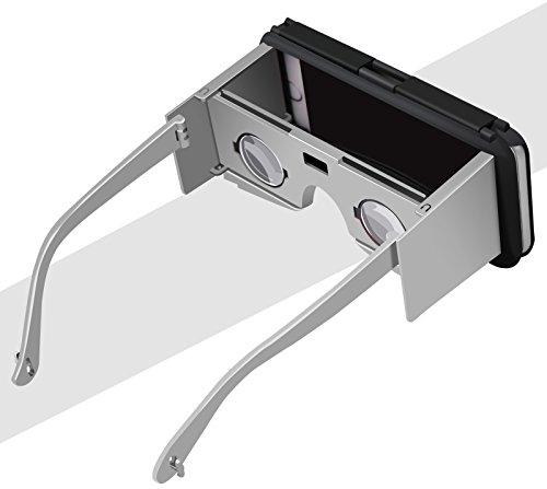 iPhone 6s Hülle, iPhone 6 Hülle, Vandot 3D VR Brille Virtuelle Realität Schutzhülle für iPhone 6s 6 Handyhülle Virtual Reality Glasses Video Filme Movies Spiel Game PC Hart Hard Passgenaues Telefonkas Silber