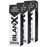BlanX, Dentifricio Classic Black, Dentifricio con Carbone Attivo Sbiancante, Naturale, Non Abrasivo, per Denti Bianchi…