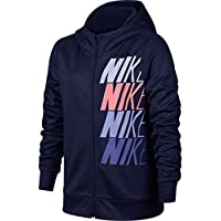 Nike G NK Therma Hoodie FZ GX Chaqueta, Niñas, Azul (Blue Void/Palest Purple), M