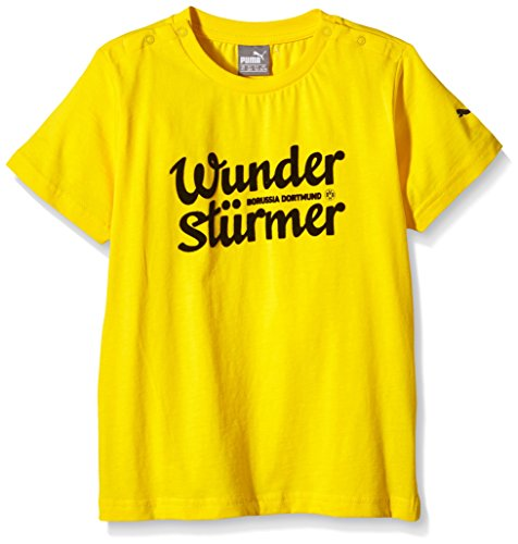 PUMA Baby T-Shirt BVB Minicats Graphic Tee Cyber Yellow-Wunder
