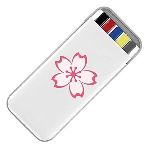 Apparel Printing Emoji Cherry Blossom Stationery Set, White