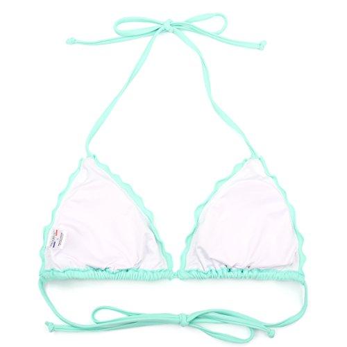 Set Costume donna RELLECIGA top bikini a triangolo con laccetti Mentolo Verde