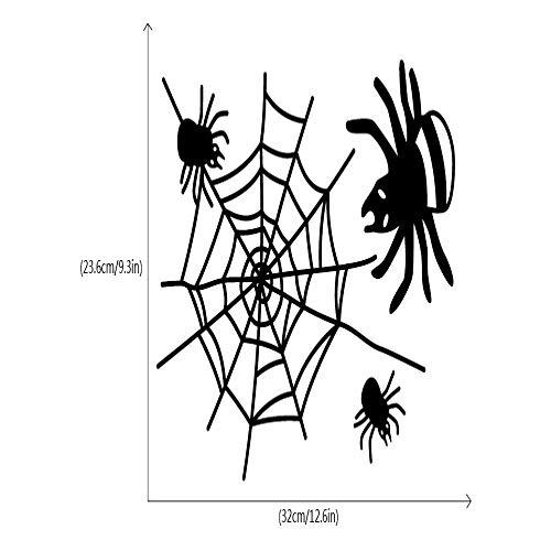 BAWANGLONG Lustige Halloween Spinne Vinyl Wandaufkleber Kreative Cartoon Tier Wandtattoo Home Wand Fenster Dekor