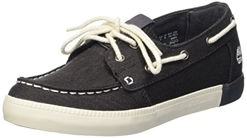 Timberland Newport Bay Canvas, Scarpe Low-Top Donna Nero